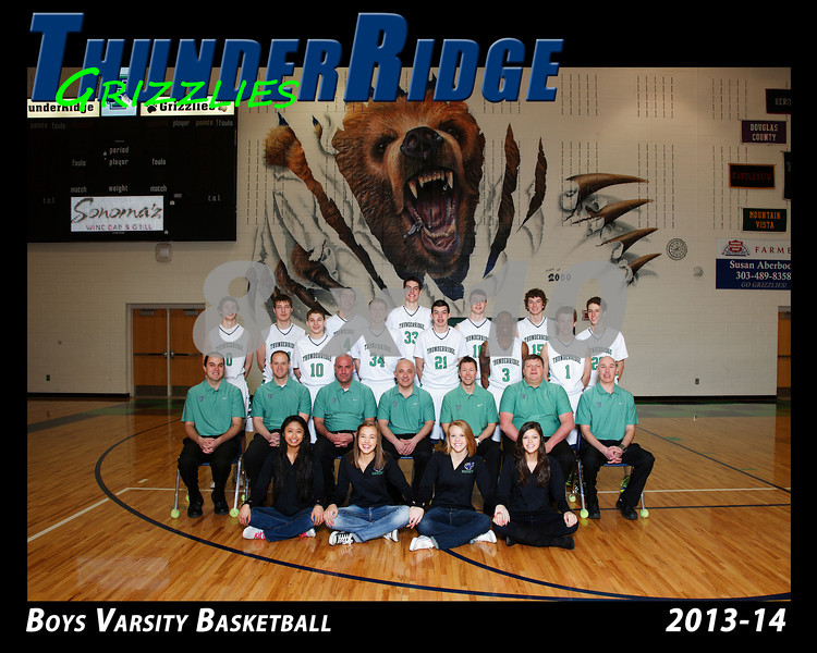 2014 Basket Boys TRHS Varsity 16x20 Team