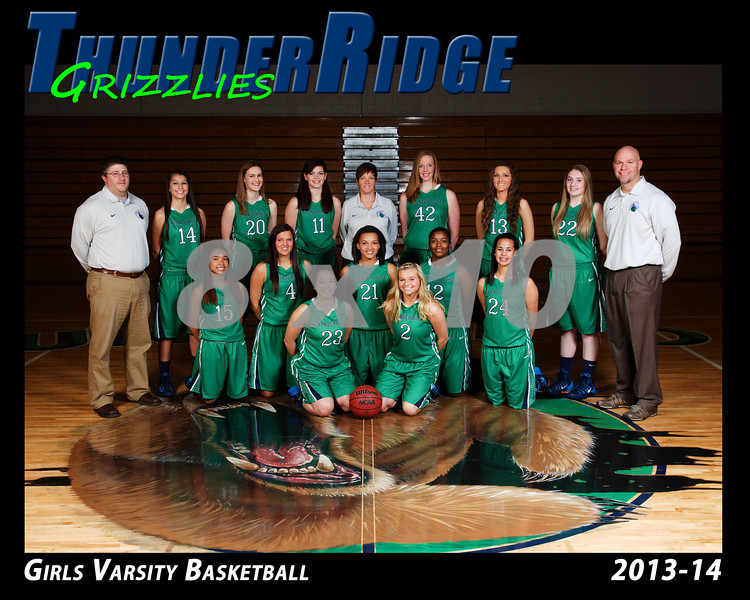 2013 Basket Girls TRHS Varsity 16x20 Team
