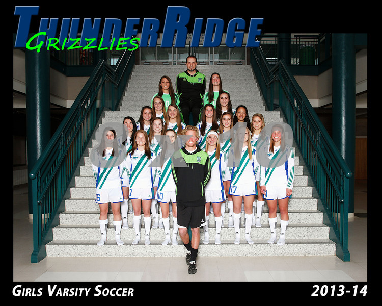 2013 Soccer Girls TRHS Varsity 16x20 Team