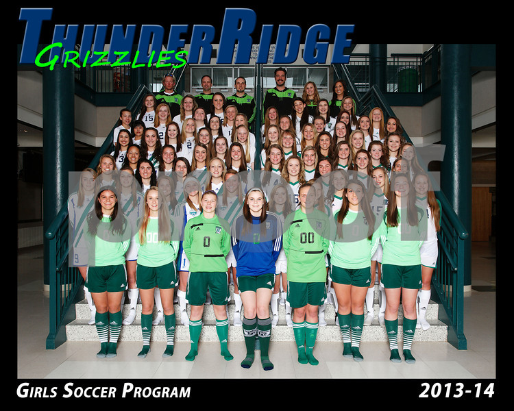 2013 Soccer Girls TRHS Program 16x20 Team