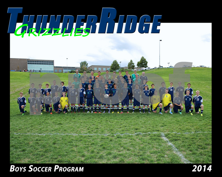 2014 TRHS Soccer Boys program 16x20 Team Photo