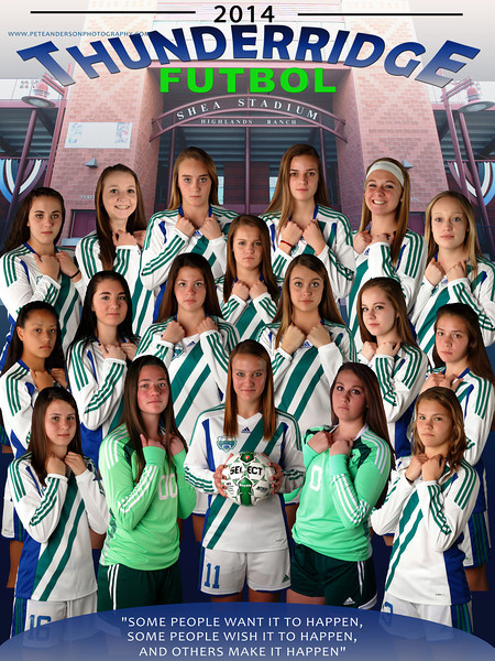 2014 TRHS Girls Soccer Poster 18inx24in