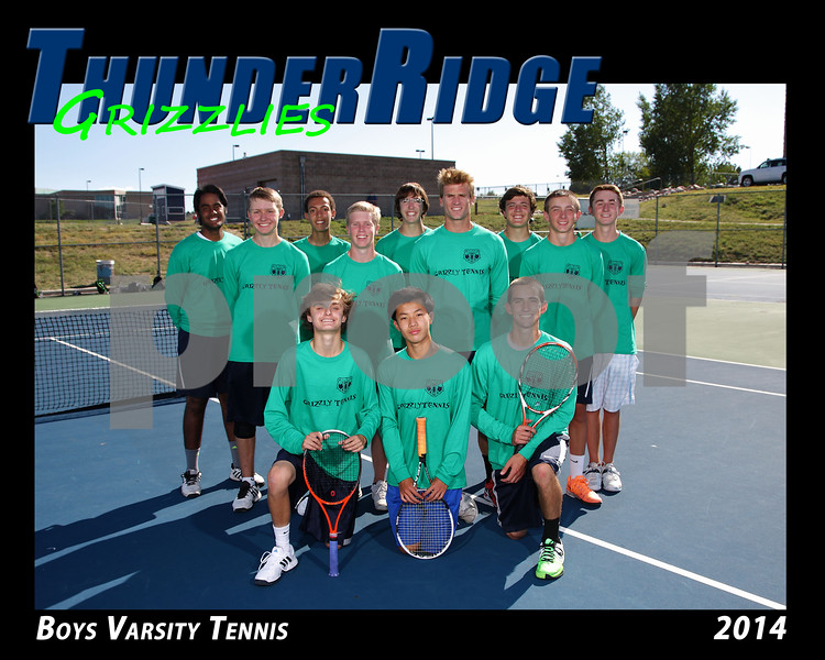 2014 TRHS Boys Varsity Tennis 16x20 Team Photo