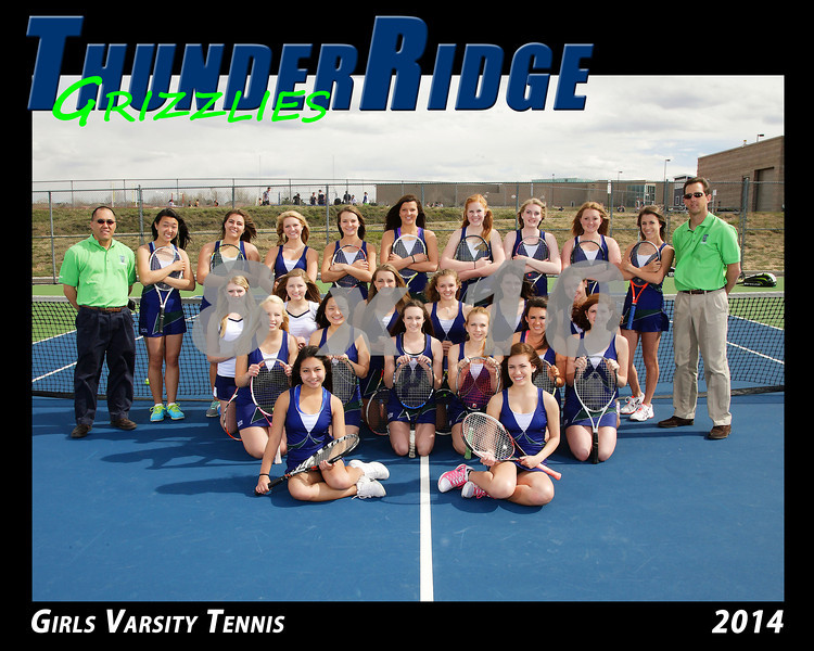 2014 TRHS Girls Varsity Tennis 16x20 Team Photo
