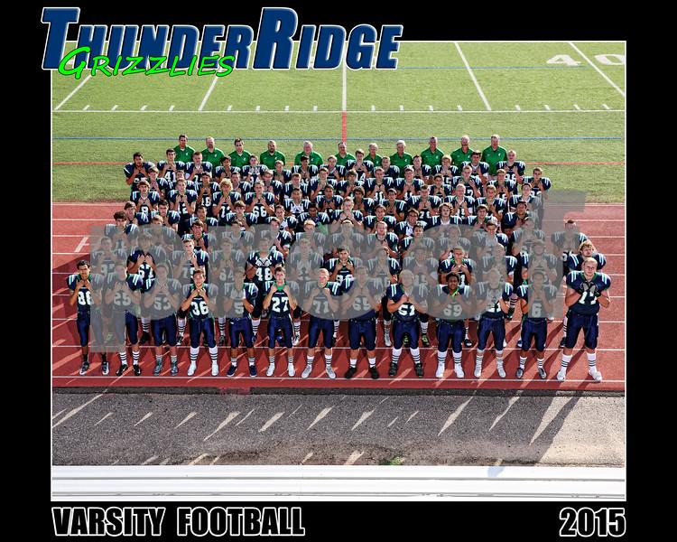 2015 Football Varsity Team text 16x20