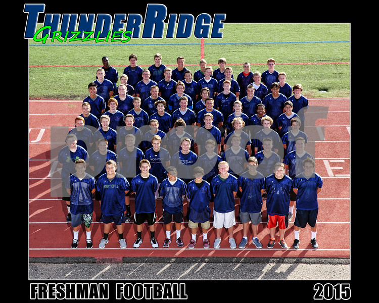 2015 Football Freshman Team text 16x20