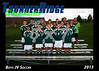 2013 TRHS Soccer Boys JV 5x7 Team Photo