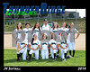 2014 TRHS JV Softball 16x20 Team Photo